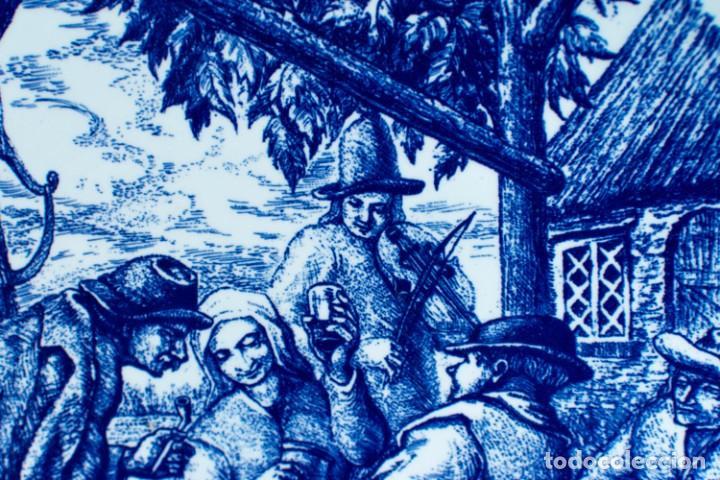 Antigüedades: Fantástico Plato Delfts Boch La Louviere. - Foto 5 - 220375055