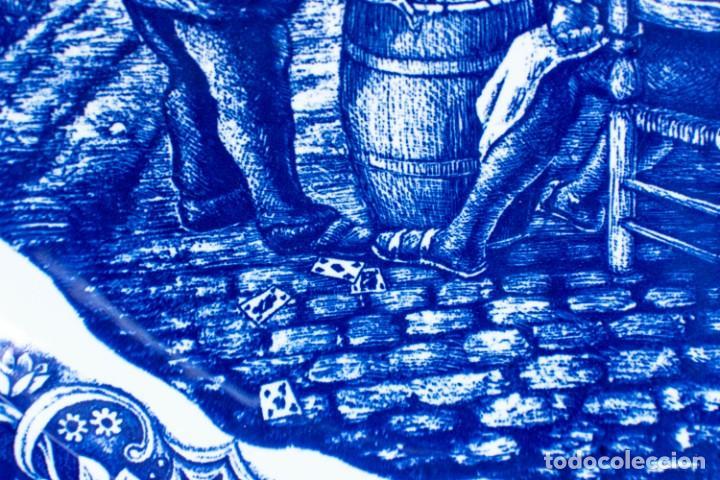 Antigüedades: Fantástico Plato Delfts Boch La Louviere. - Foto 6 - 220375055