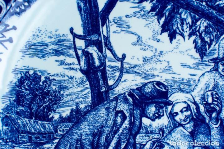 Antigüedades: Fantástico Plato Delfts Boch La Louviere. - Foto 7 - 220375055