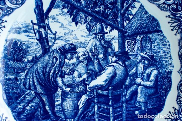 Antigüedades: Fantástico Plato Delfts Boch La Louviere. - Foto 9 - 220375055