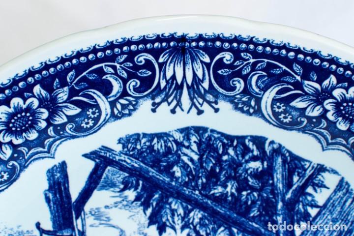 Antigüedades: Fantástico Plato Delfts Boch La Louviere. - Foto 11 - 220375055