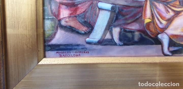 Antigüedades: BELLA SANTA CENA ESMALTADA DEL ORFEBRE MASRIERA Y CARRERAS. CIRCA 1920 - Foto 14 - 220387601