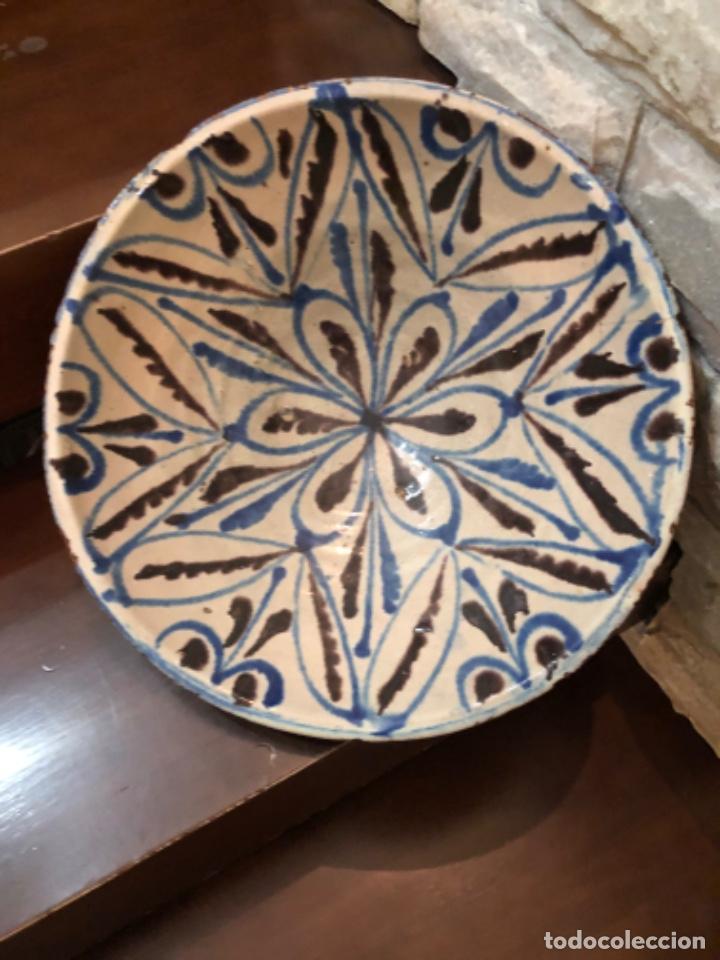 ANTIGUA FUENTE EN CERÁMICA DE FAJALAUZA (Antigüedades - Porcelanas y Cerámicas - Fajalauza)