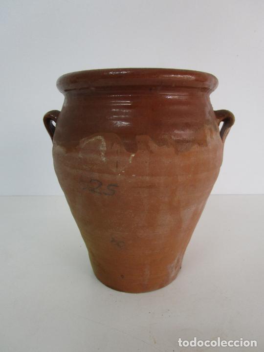 ANTIGUA JARRA - CERÁMICA CATALANA - CON ASAS - S. XIX (Antigüedades - Porcelanas y Cerámicas - Catalana)