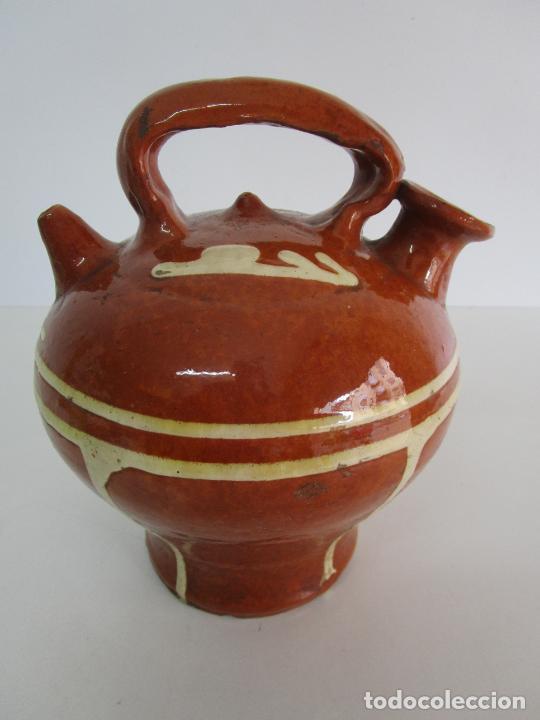 Antigüedades: Antiguo Botijo - Cantir La Bisbal (Baix Empordà) - Cerámica Catalana - Foto 11 - 220444818