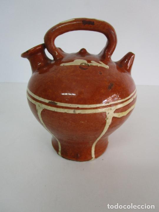 ANTIGUO BOTIJO - CANTIR LA BISBAL (BAIX EMPORDÀ) - CERÁMICA CATALANA (Antigüedades - Porcelanas y Cerámicas - La Bisbal)