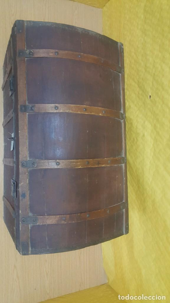 Antigüedades: BAÚL EN MADERA DE PINO SIGLO XX, 6000-286 - Foto 5 - 45731701