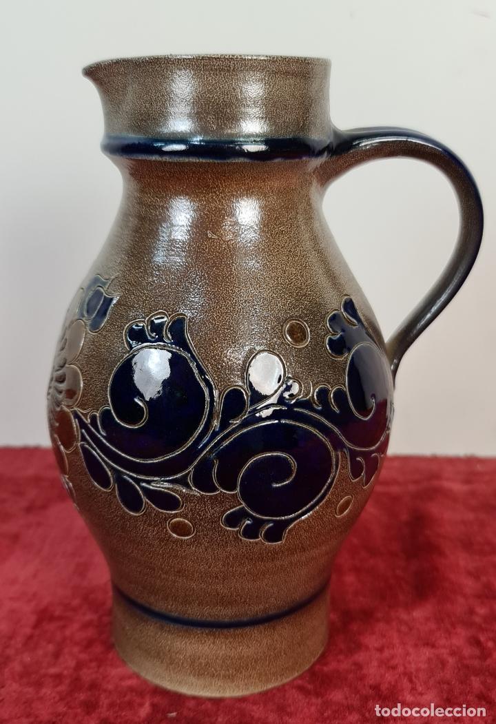JARRA DE CERÁMICA. HECHA A MANO. PAUL KRUFT. ALEMANIA. 1997. (Antigüedades - Porcelana y Cerámica - Alemana - Meissen)