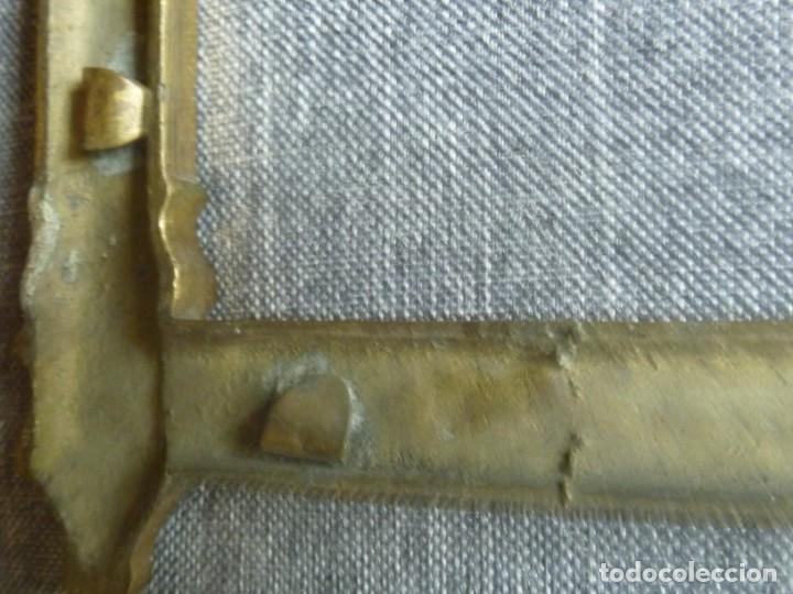 Antigüedades: ANTIGUA SACRA DOBLE DE BRONCE ESTILO GÓTICO OPORTUNIDAD - Foto 10 - 220462913