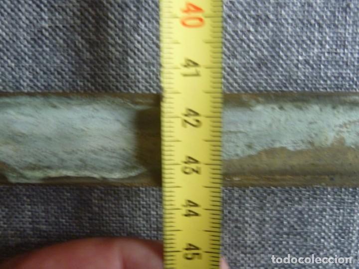 Antigüedades: ANTIGUA SACRA DOBLE DE BRONCE ESTILO GÓTICO OPORTUNIDAD - Foto 14 - 220462913