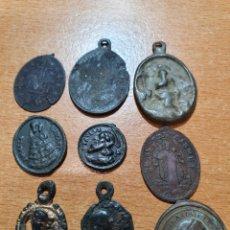 Antigüedades: 9 MEDALLAS RELIGIOSA ANTIGUAS. Lote 220489376