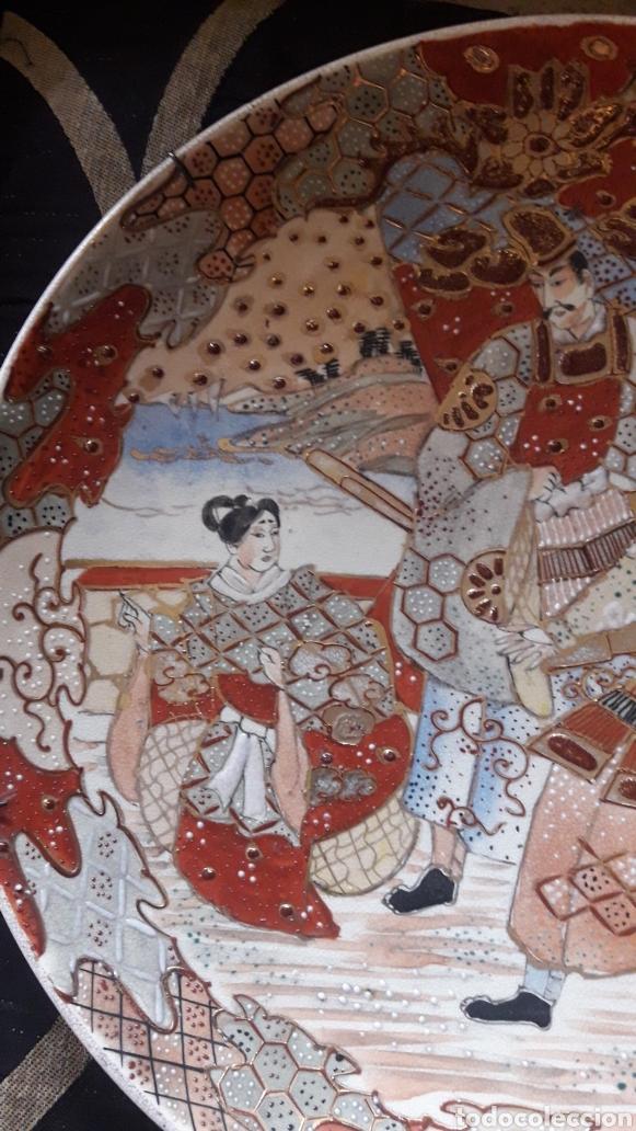 Antigüedades: Antiguo plato de porcelana Satsuma - Foto 3 - 220502598