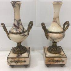 Antigüedades: ANTIGUOS JARRONES FRANCESES ESTILO IMPERIO SIGLO XIX. Lote 220523165
