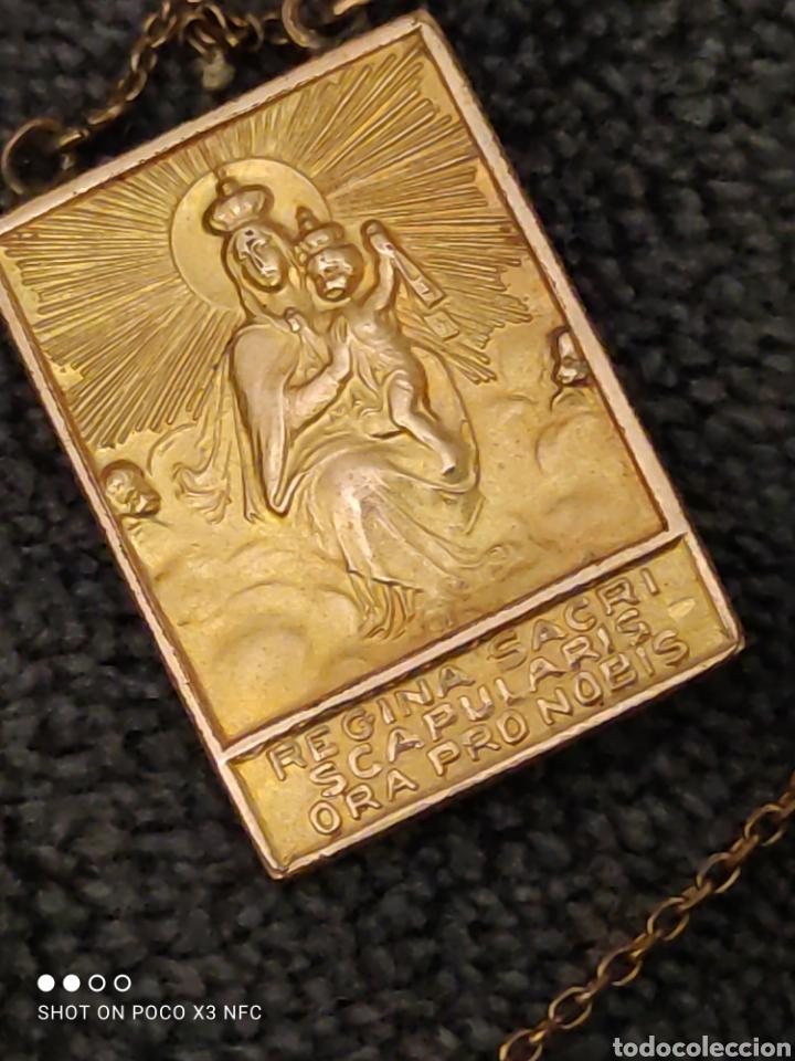 ESCAPULARIO DOBLE, REGINA SACRI Y JESU MISERICORDIA (Antigüedades - Religiosas - Escapularios Antiguos)