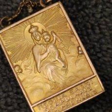 Antigüedades: ESCAPULARIO DOBLE, REGINA SACRI Y JESU MISERICORDIA. Lote 220534458