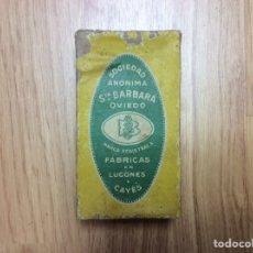 Antigüedades: ANTIGUA CAJA DE CARTÓN PÓLVORA SANTA BARBARA. Lote 220550656