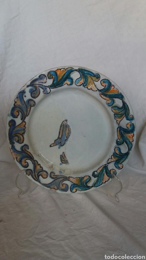 PLATO SIGLO XVII (Antigüedades - Porcelanas y Cerámicas - Teruel)