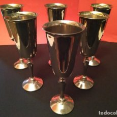 Antigüedades: COPAS SILVER PLATE, VISIUC S.A MADE IN SPAIN. Lote 220552695