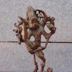 Antigüedades: ESCULTURA DEL DIOS SIVA, DANZANDO Y PISANDO AL ENANO REPRESENTANDO AL OLVIDO, REALIZADO EN BRONCE. Lote 220586985