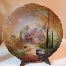Antigüedades: PLATO DECORATIVO DE PORCELANA DE LLIMOS. Lote 220616248