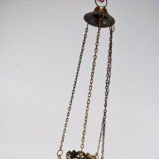 Antigüedades: GRAN MARAVILLOSA Y RARA MUSEO ANTIGUA LAMPARA VOTIVA CON CRUZ COPTA SIGLO XIX BRONCE 83 CM 329 EU. Lote 220616477