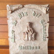 Antigüedades: ANTIGUA BENDITERA CATALANA MADRE DE DIOS DEL CLAUSTRO MARE DE DEU DEL CLAUSTRE. Lote 220642357