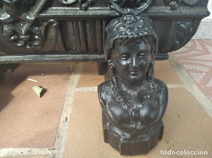 Antigüedades: INCREÍBLES JARDINERAS ART NOUVEAU - MODERNISTA - DÉCO DE HIERRO FORJADO - FUNDIDO PRINCIPIOS S. XX. - Foto 10 - 220667220