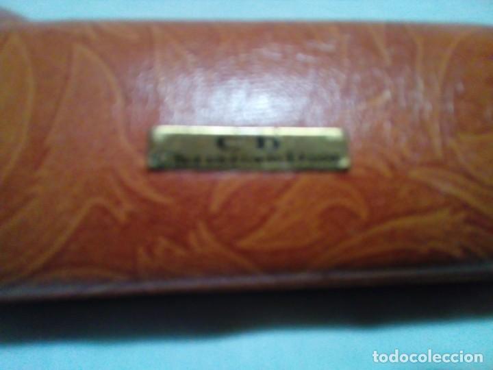 Antigüedades: funda de piel para gafas - Foto 3 - 220675287