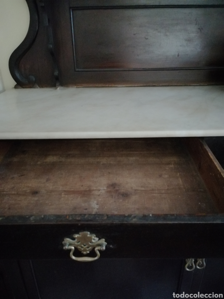 Antigüedades: Aparador de dos cuerpos con mármol - Foto 10 - 220680728