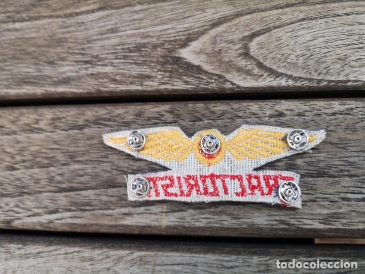 Antigüedades: IBERIA Bordado para uniforme de Tractorista Logotipo años 50 - Foto 2 - 220682001