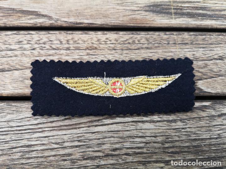 Antigüedades: IBERIA prueba de sastrería de emblema bordado para uniformes años 50/60 - Foto 2 - 220683903