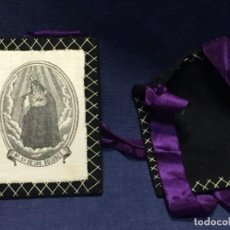 Antigüedades: ESCAPULARIO BORDADO IMPRESO DOLOROSA N SRA DE LOS DOLORES 9,5X7,5CMS. Lote 220685545