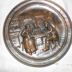 Antigüedades: PLATO DE COBRE REPUJADO. Lote 220688741