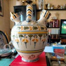 Antigüedades: CERAMICA DE TALAVERA, RUIZ DE LUNA, GRAN BOTIJO 30 CM ALTO. Lote 220694911