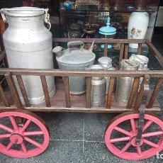 Antigüedades: BONITA CARRETA / CARRO DE CABRAS HECHO DE MADERA - IDEAL PARA JARDIN EN MASIAS Y RESTAURANTES. Lote 220713380