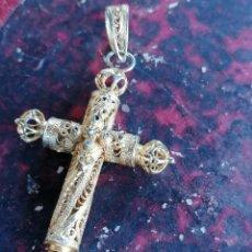 Antigüedades: CRUZ DE FILIGRANA. Lote 220715041