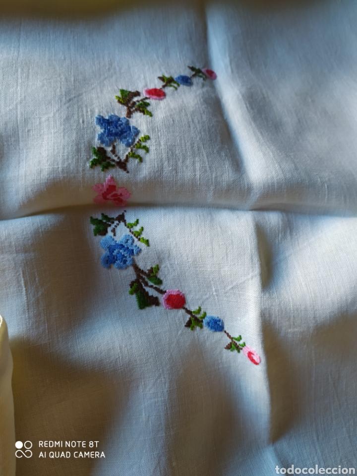 Antigüedades: Mantel merienda hilo bordado - Foto 2 - 220715593