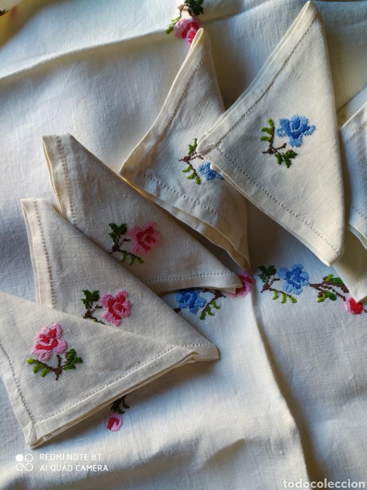 Antigüedades: Mantel merienda hilo bordado - Foto 3 - 220715593
