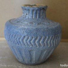 Antigüedades: JARRON TERRACOTA AZUL. Lote 220751496