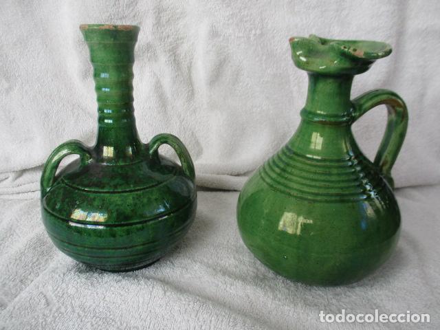 Antigüedades: Lote de 2 piezas de cerámica vidriada de Úbeda- Tito - Foto 2 - 220758035