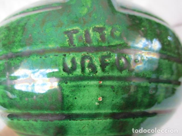 Antigüedades: Lote de 2 piezas de cerámica vidriada de Úbeda- Tito - Foto 12 - 220758035