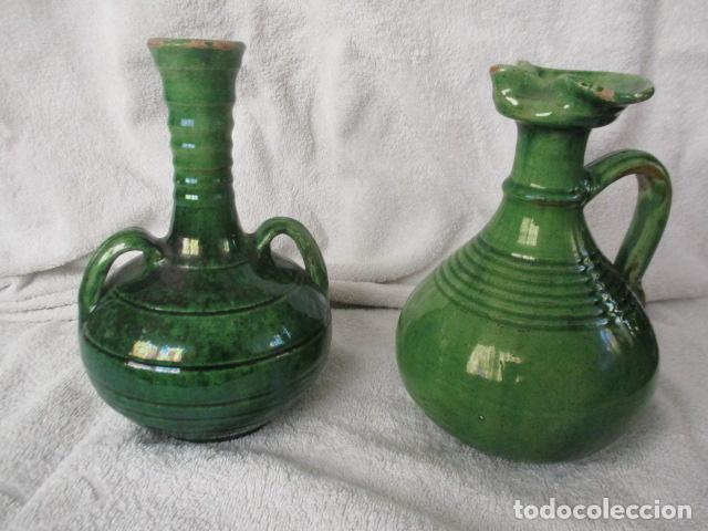 LOTE DE 2 PIEZAS DE CERÁMICA VIDRIADA DE ÚBEDA- TITO (Antigüedades - Porcelanas y Cerámicas - Úbeda)