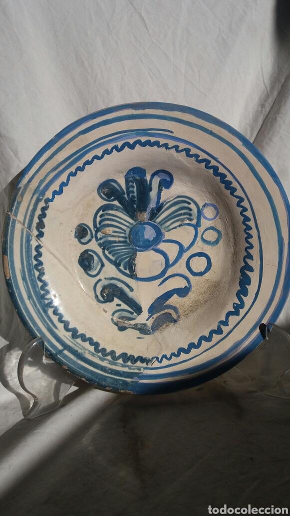 PLATO ARAGONÉS SIGLO XVII (Antigüedades - Porcelanas y Cerámicas - Teruel)