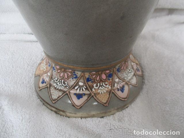 Antigüedades: ESPECTACULAR Y ANTIGUO JARRÓN ORIENTAL DE CERÁMICA / SAMURAIS - JAPÓN - PINTADO A MANO, FIRMADO - Foto 7 - 220761598