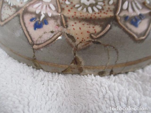 Antigüedades: ESPECTACULAR Y ANTIGUO JARRÓN ORIENTAL DE CERÁMICA / SAMURAIS - JAPÓN - PINTADO A MANO, FIRMADO - Foto 20 - 220761598