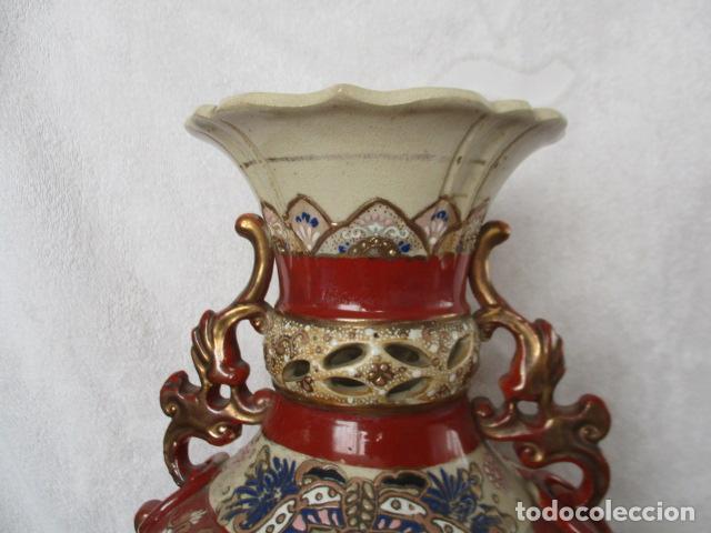 Antigüedades: ESPECTACULAR Y ANTIGUO JARRÓN ORIENTAL DE CERÁMICA - JAPÓN - PINTADO A MANO, FIRMADO / SAMURAIS - Foto 28 - 220761598