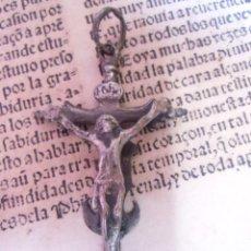 Antiguidades: CRUCIFIJO S.XVIII EN PLATA, DOBLE CARA. Lote 220766172