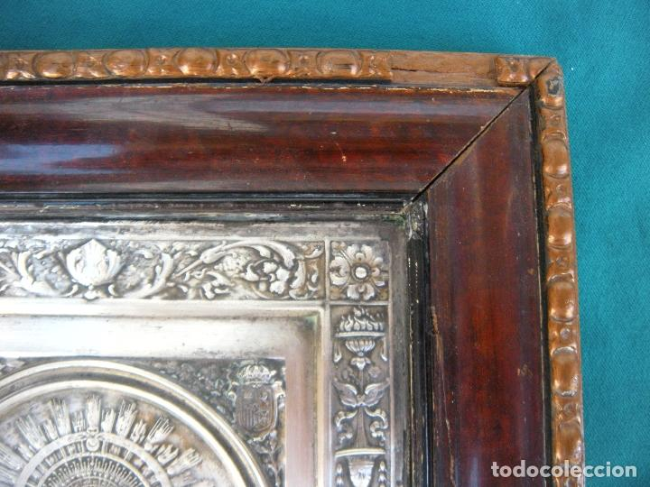 Antigüedades: CUADRO DE CHAPA VIRGEN DEL PILAR. - Foto 2 - 220790753