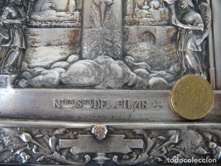 Antigüedades: CUADRO DE CHAPA VIRGEN DEL PILAR. - Foto 3 - 220790753