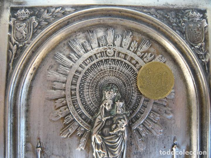 Antigüedades: CUADRO DE CHAPA VIRGEN DEL PILAR. - Foto 4 - 220790753